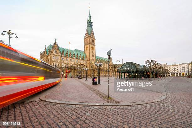 germany, hamburg, city hall - rathaus stock-fotos und bilder