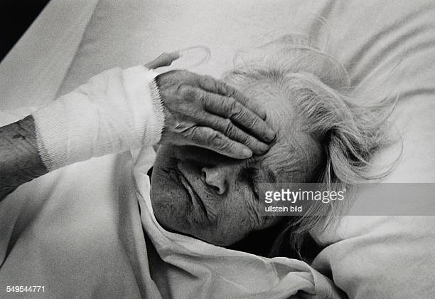 Germany Hamburg dying old woman in hospital