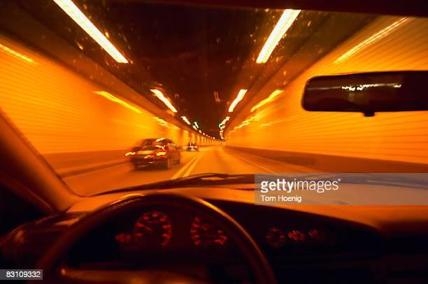 Germany, Hamburg, Elb tunnel, car driving through tunnel