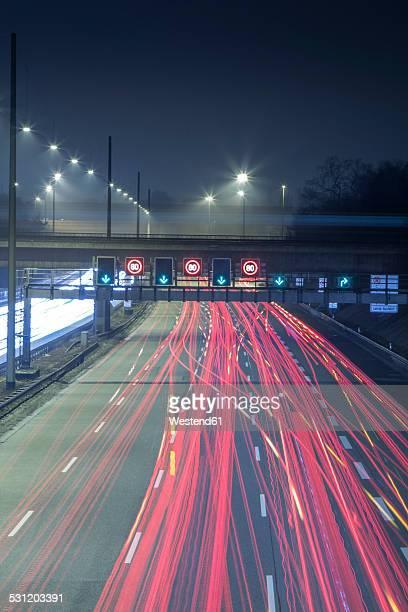 Germany, Hamburg, evening rush hour on the Autobahn