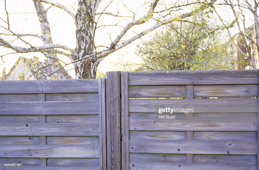 Germany, Hamburg, garden fence : ストックフォト