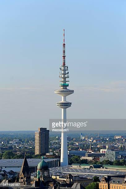 germany, hamburg, heinrich-hertz tower - hertz stock pictures, royalty-free photos & images