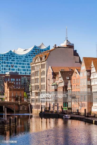 germany, hamburg, old town, town houses at nikolai fleet - hamburg germany stock pictures, royalty-free photos & images