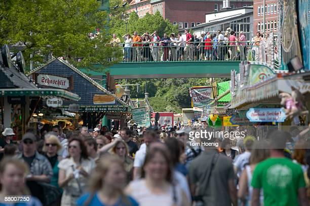 Germany, Hamburg, People visiting a fair