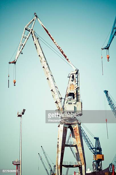 Germany, Hamburg, Port of Hamburg, Old harbour crane
