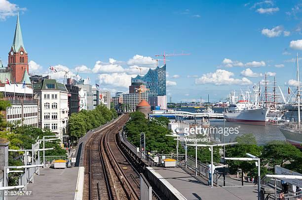 Germany, Hamburg, Port of Hamburg, St. Pauli Piers, Station, Platform