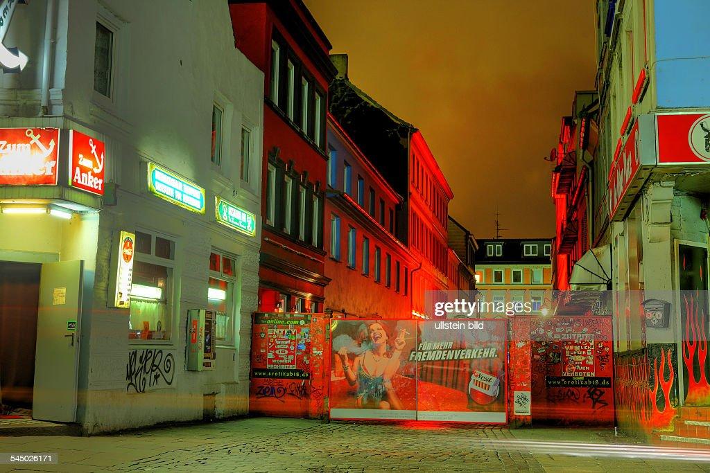 entrance to Herbertstrasse at Davidstrasse News Photo