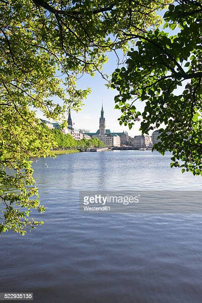 Germany, Hamburg, View of the Alster Lake