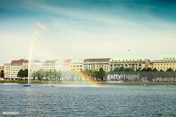 Germany, Hamburg, view to Binnenalster