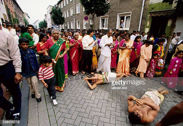 HinduTamils in Germany The annual temple celebration in and around the Sri Sithivinayagar Temple selfchastisement