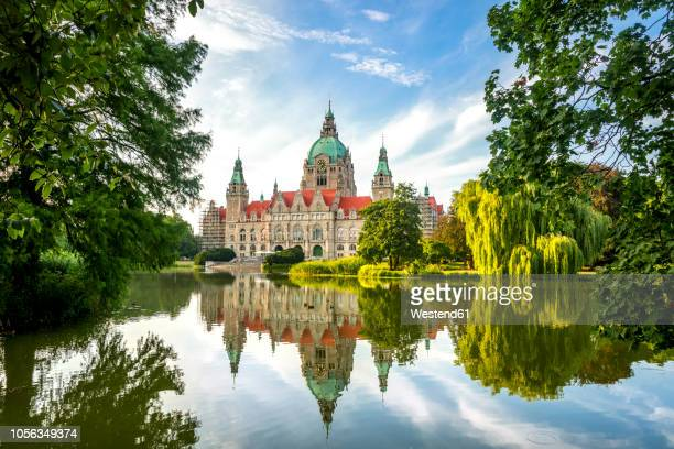 germany, hannover, new city hall - hanover germany stock pictures, royalty-free photos & images