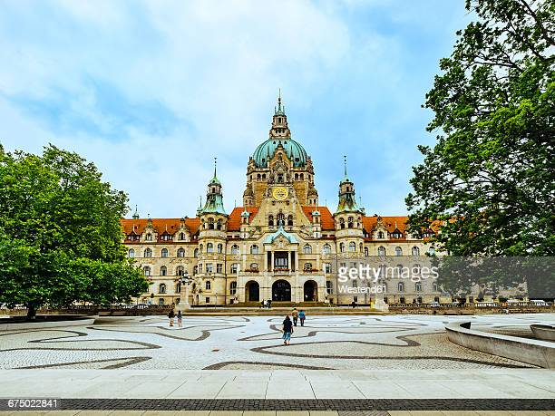 germany, hanover, new town hall - hanover germany stock pictures, royalty-free photos & images