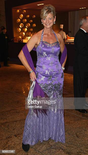Germany head Ann Kathrin Linsenhoff attends the Bundespresseball 2008 at the Intercontinental hotel on November 28 2008 in Berlin Germany