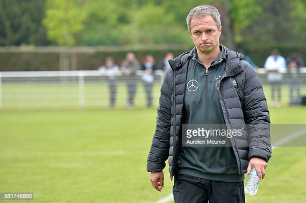 Germany Head Coach Christian Wuck arrives before the U16 international friendly match between France and Germany on May 16 2016 in Soissons France