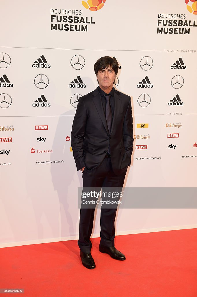 Germany head coach Joachim Loew arrives for the Opening Gala of the German Football Museum on October 23, 2015 in Dortmund, Germany.