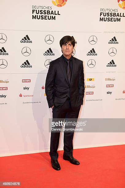 Germany head coach Joachim Loew arrives for the Opening Gala of the German Football Museum on October 23 2015 in Dortmund Germany