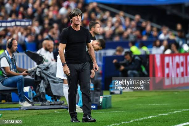 Germany head coach Joachim Low during the UEFA Nations League A group one match between France and Germany at Stade de France on October 16 2018 in...