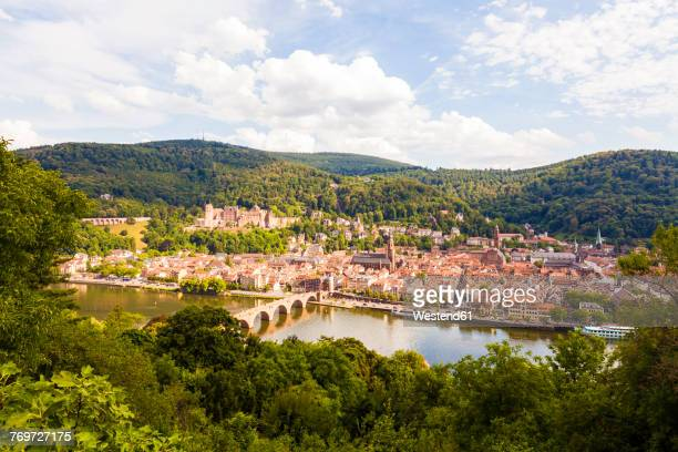 Germany, Heidelberg, view to the old town from above
