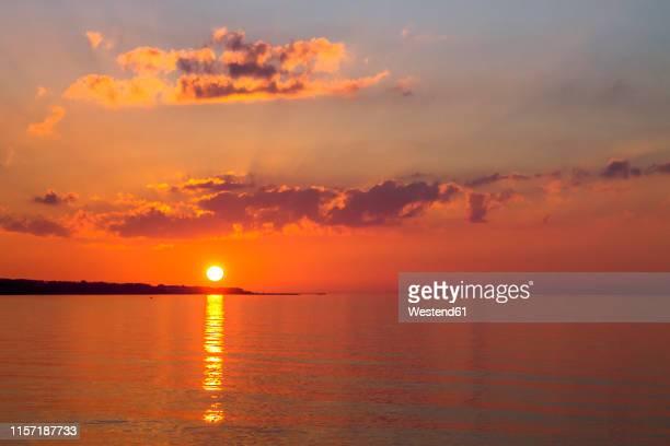 germany, heiligendamm, bad doberan, sunset above the baltic sea - heiligendamm stock photos and pictures