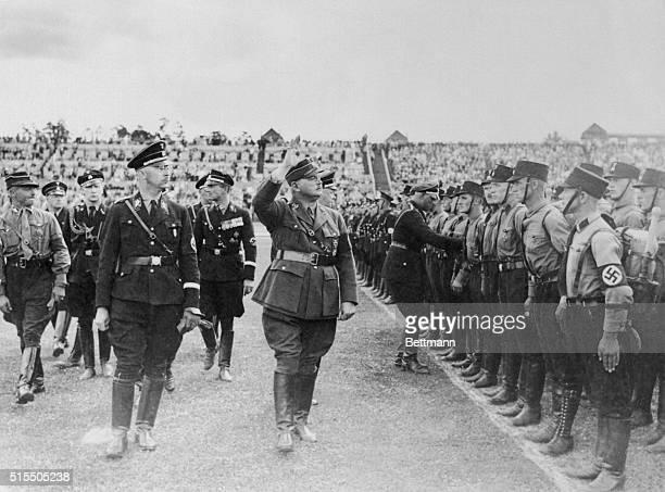 Heinrich Himmler reviews German Gestapo Troopers