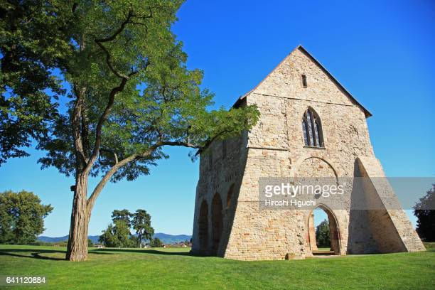 germany, hesse (hessen), abbey and altenmünster of lorsch, unesco world heritage - abadia mosteiro - fotografias e filmes do acervo
