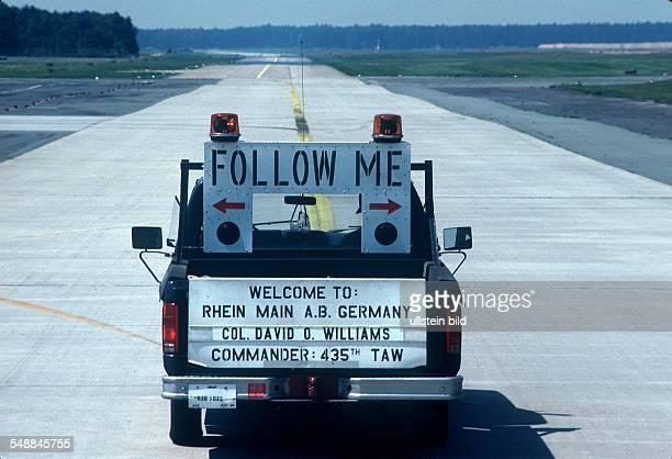 Germany Hesse Frankfurt am Main American in Frankfurt follow me car at RhineMain Air Base