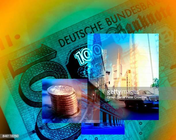 Deutschland, Hessen, Frankfurt / Main und Deutschemarks.