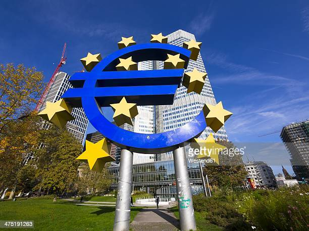 Germany, Hesse, Frankfurt am Main, Euro sign in front of EZB