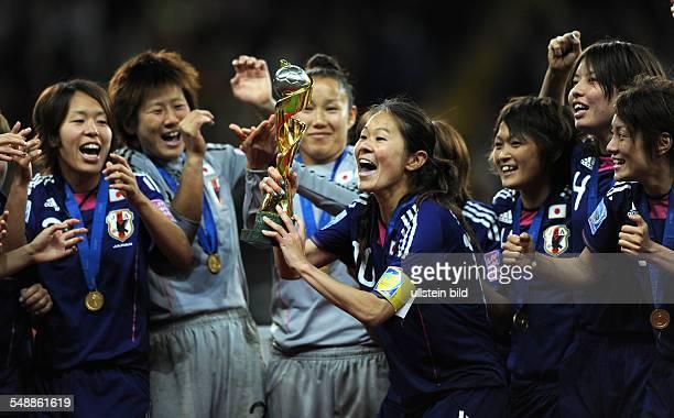 Germany Hesse Frankfurt am Main FIFA Women's World Cup Germany 2011 final Japan v USA 53 after penalty shootout Japan's team captain Homare Sawa...