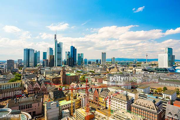 Germany, Hesse, Frankfurt, cityview with financial district
