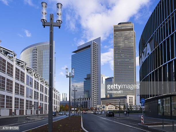 Germany, Hesse, Frankfurt, European Quarter, View of Tower 185 with Commerzbank and Pollux Tower
