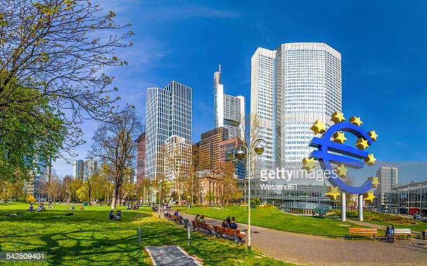 germany, hesse, frankfurt, financial district - european central bank stock pictures, royalty-free photos & images