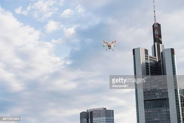 Germany, Hesse, Frankfurt, flying drone