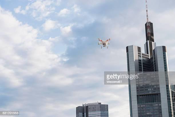 Germany, Hesse, Frankfurt, flying drone