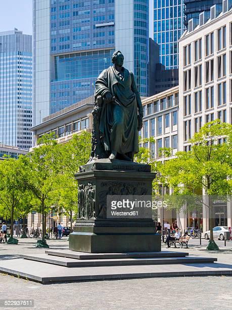 germany, hesse, frankfurt, goethe memorial on rossmarkt - monument stock pictures, royalty-free photos & images