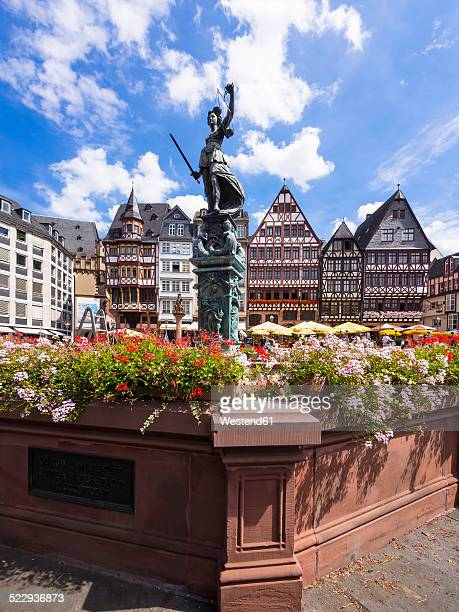 Germany, Hesse, Frankfurt, Roemerberg, Fountain of Justice