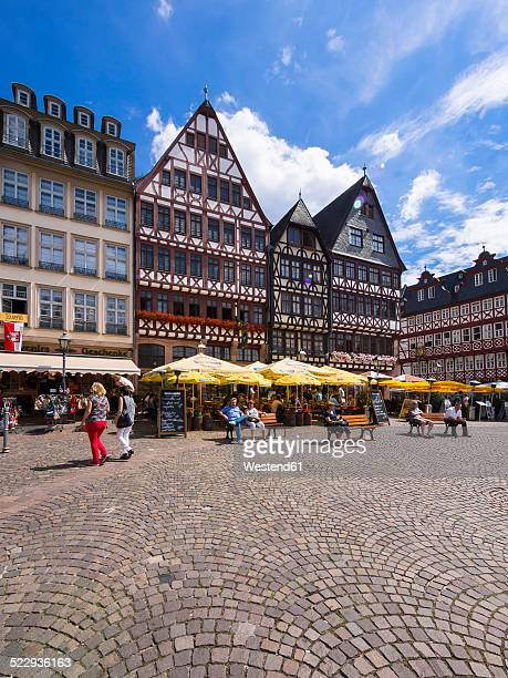 Germany, Hesse, Frankfurt, Roemerberg, Historical Houses