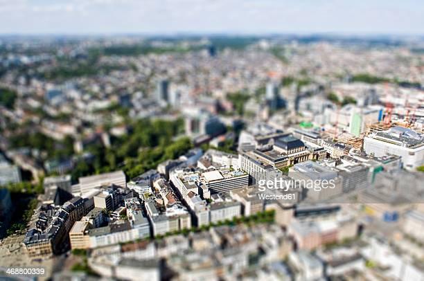 Germany, Hesse, Frankfurt, Tilft-shift view of Frankfurt Stock Exchange