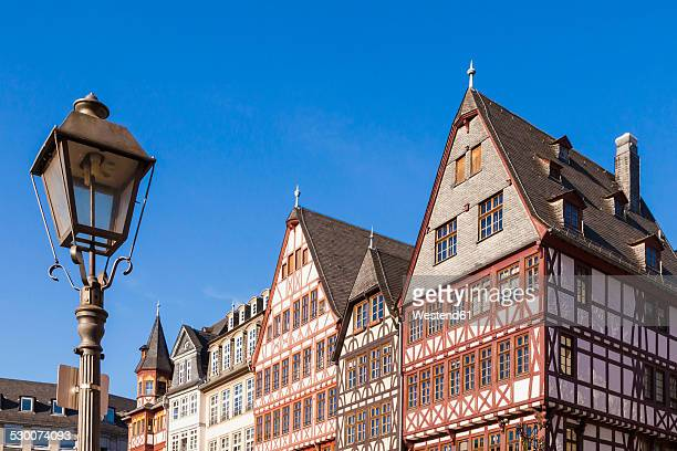 Germany, Hesse, Frankfurt, view to half-timbered houses at Roemerberg