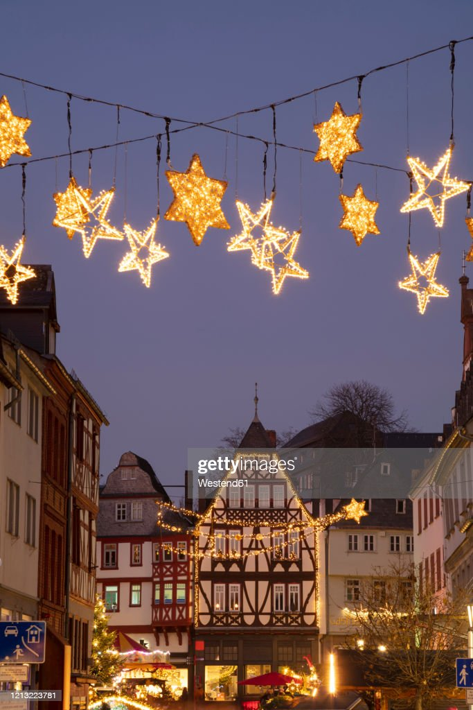 Limburg An Der Lahn Christmas Market 2020 Germany Hesse Limburg An Der Lahn Christmas Decorations Glowing