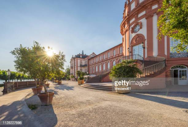 Germany, Hesse, Wiesbaden, Biebrich Palace against the sun