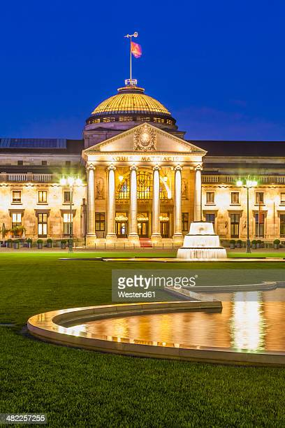 Germany, Hesse, Wiesbaden, Kurhaus at night