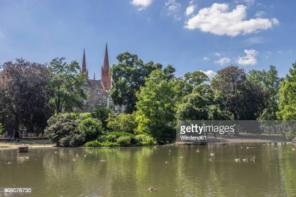 Germany, Hesse, Wiesbaden, landscape garden Warmer Damm
