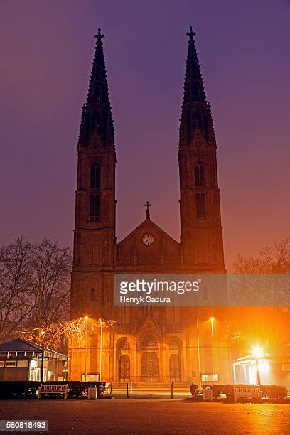 Germany, Hesse, Wiesbaden, Luisenplatz, St. Boniface Church