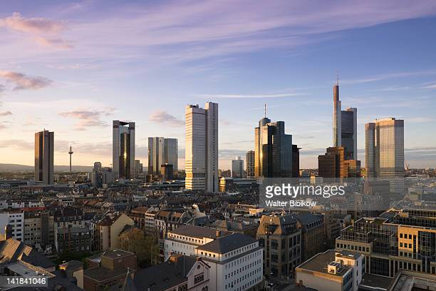 Germany, Hessen, Frankfurt-am-Main, Financial District view