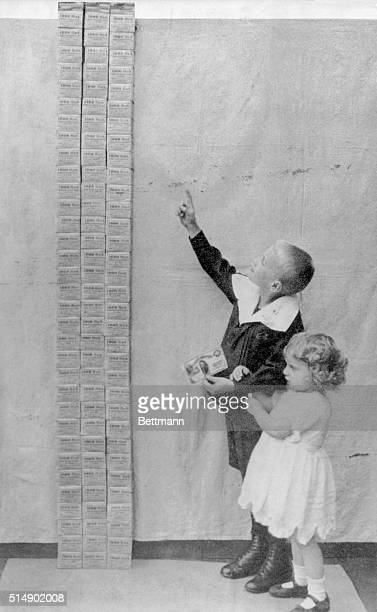Germany History German inflation 19191922 shows 100000 marks which equaled one U S dollar