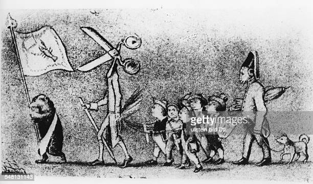 Germany history restauration period and premarch era Censorship of free press 'Censorship and wellbehaves press' Illustration Photographer Walter...