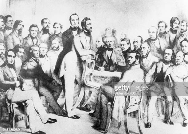 Germany history Revolution 1848 National assembly of the Paulskirche Frankfurt/Main the committee of 30 delegates to elaborate a constution presided...