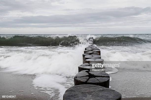 Germany, Hohe Duene, stormy sea