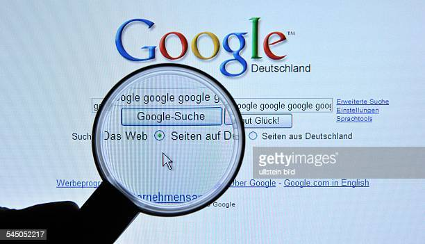 Homepage Website of the search engine Google
